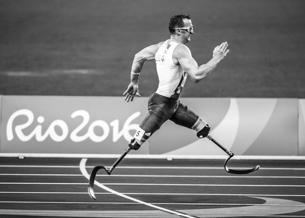 disabled man running